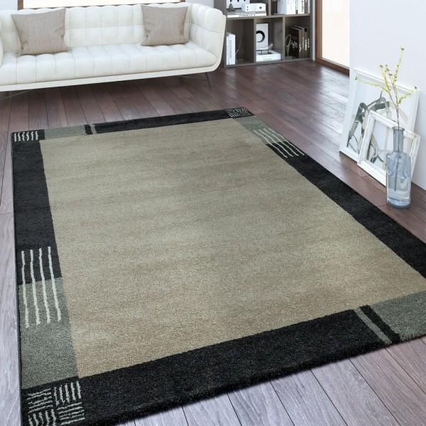 Designer Teppich Bordüre Beige Braun