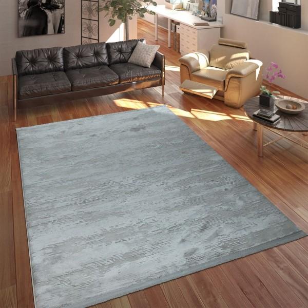 Designer Polyacryl Teppich Edel Modern Shabby Chic Used Look Abstrakt 3D Effekt Grau