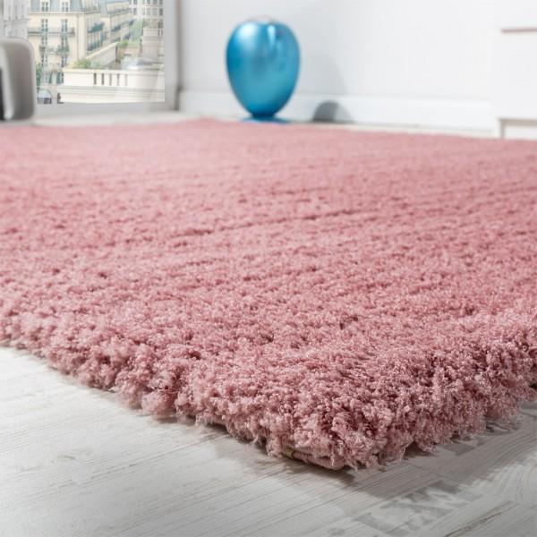 Shaggy Teppich Micro Polyester Wohnzimmer Teppiche Elegant Hochflor Pink