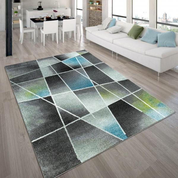 Designer-Teppich, Kurzflor-Teppich Mit Abstraktem Muster Farbverlauf, In Bunt