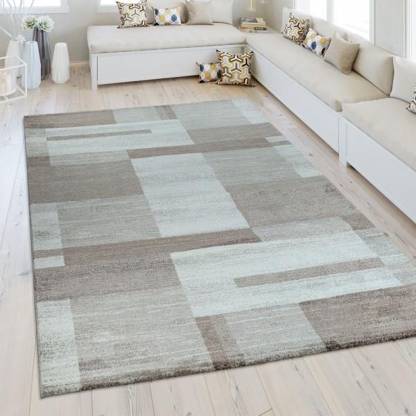 Heatset Teppich Geometrisches Muster Beige