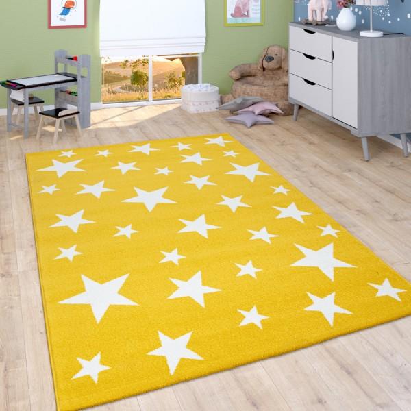 Alfombra Habitación Infantil Estrellas En Amarillo